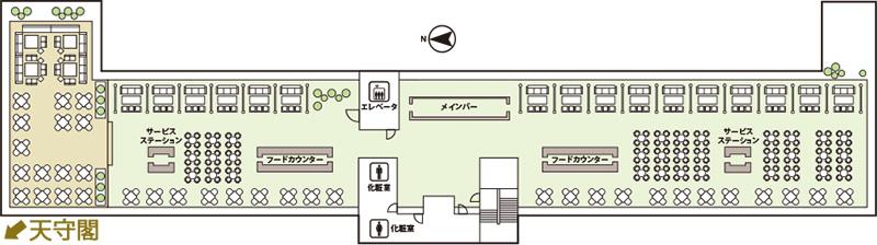 ミライザ大阪城 BBQ ブルーバーズ ルーフトップテラス フロアマップ
