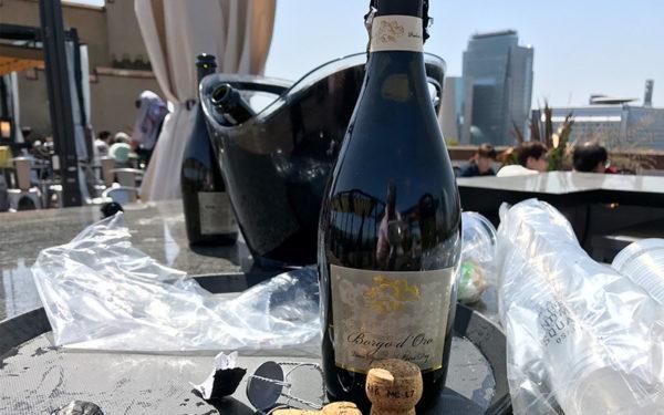 ミライザ大阪城 ブルーバーズ ルーフトップテラス スペシャルシート スパークリングワイン