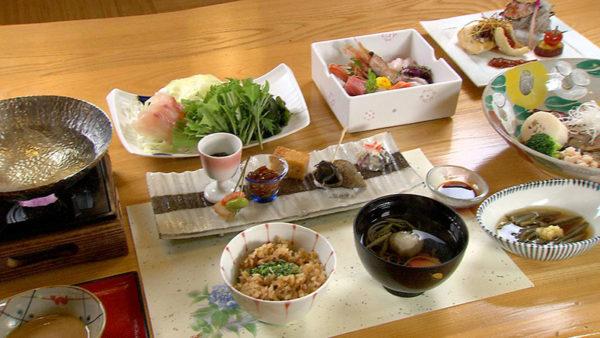 男鹿桜島リゾートHOTELきららか 夕食 鯛尽くし
