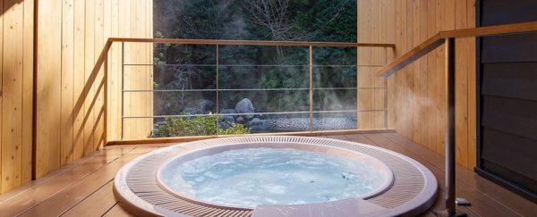 千の杜別邸 月夜見の座 千年のしじま 客室 露天風呂 温泉