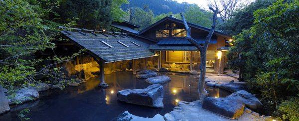 黒川温泉 やまびこ旅館 仙人風呂 露天風呂