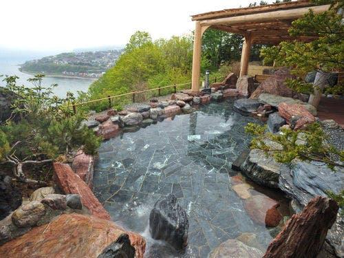 小樽 銀鱗荘 露天風呂