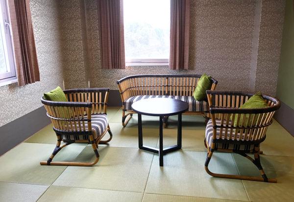 紀州みなべ温泉 朝日楼 客室 和モダン デラックスツイン 和洋室 琉球畳