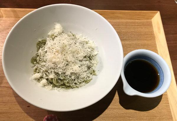 おふろcafe bijinyu 美肌湯 パスタ ちゅるりん麺 カチョカバロチーズがけ