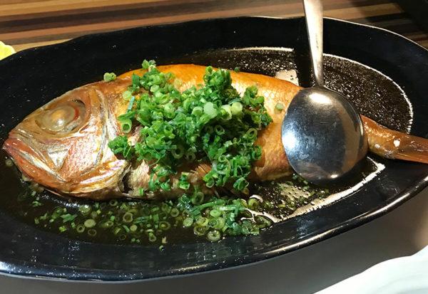 箱根 ススキの原一の湯 夕食 金目鯛の煮付け