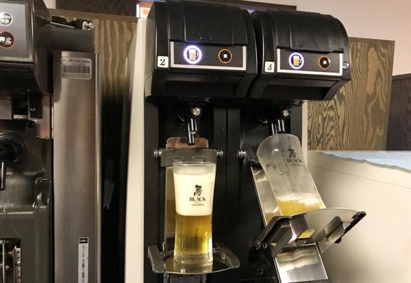 箱根 ススキの原一の湯 夕食 ビール アルコール 飲み放題