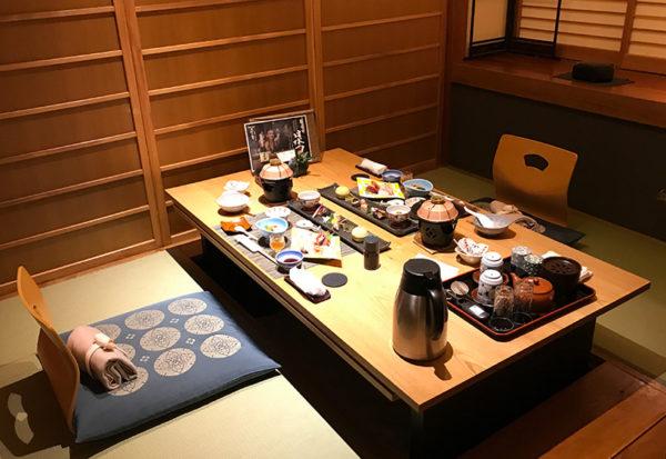 伊豆 修善寺 ねの湯 対山荘 夕食 個室