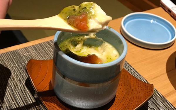 マスカルポーネ茶碗蒸し 伊豆 修善寺 ねの湯 対山荘 夕食
