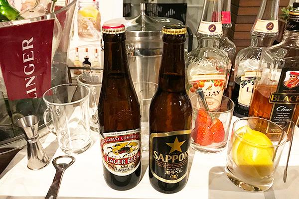 神戸北野ホテル いちごブッフェ ドリンク アルコール 飲み放題 ビール 小ビン