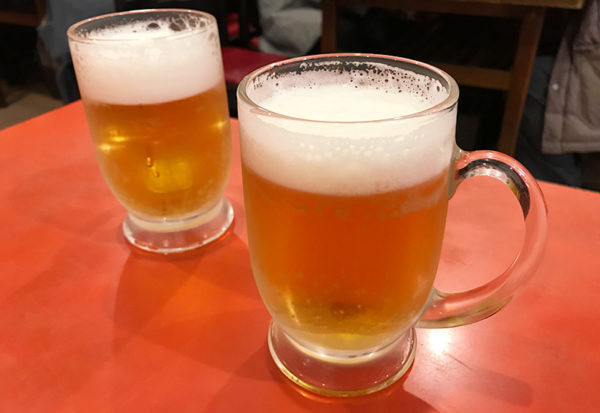 神戸 元町 南京町 元祖 ぎょうざ苑 生ビール