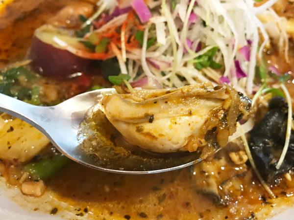 期間限定 牡蠣檸檬納豆スープカレー 牡蠣