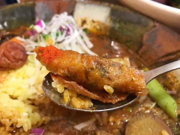 鶏なっぱスープカレー 鶏ざんまい 鶏皮餃子