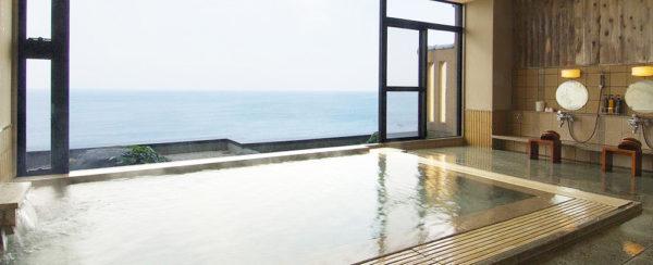 奇跡の湯 ねぶた温泉 海游 能登の庄 オーシャンビュー 展望露天風呂