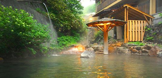 大丸温泉旅館 天然温泉 露天風呂