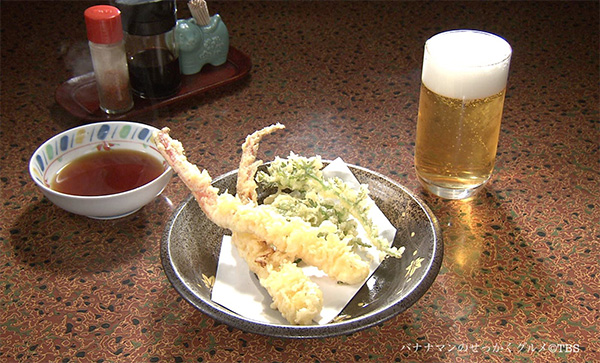 魚山亭 松葉ガニの天ぷら