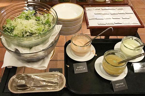 神戸北野ホテル いちごビュッフェ フード サラダ ドレッシング