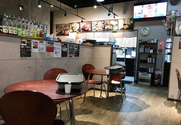 宝塚 韓国料理 Korean kitchen haruban ハルバン 店内 テーブル