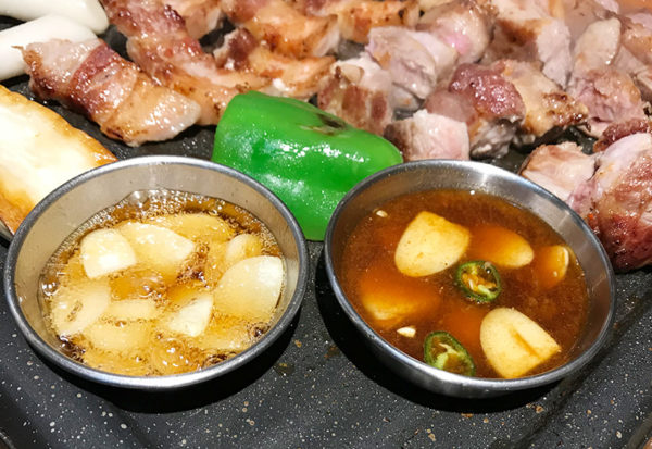 宝塚 韓国料理 ハルバン 生サムギョプサル にんにく