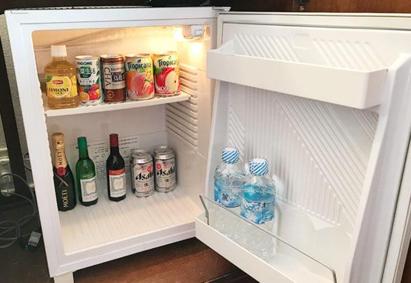 神戸北野ホテル デラックスダブル 客室 冷蔵庫