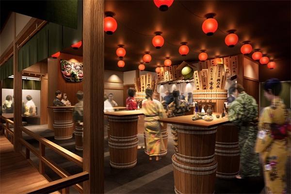 空庭温泉 OSAKA BAY TOWER 大阪ベイタワー 弁天町 温泉テーマパーク 安土桃山 関西最大級 オープン 開業 2月26日 レストラン 角打ち 立ち呑み