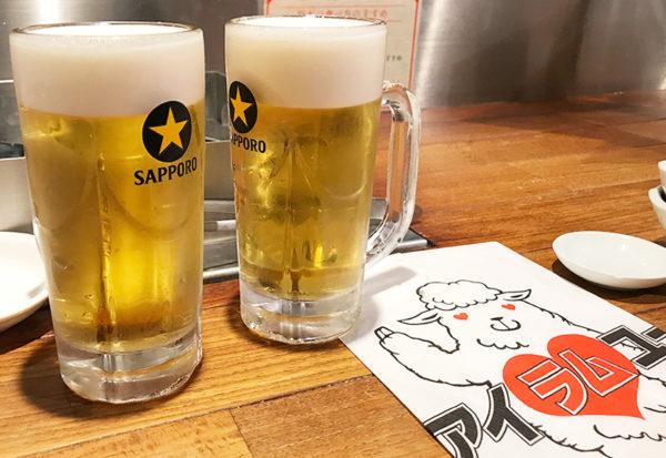 らむ屋 岩本 生ビール