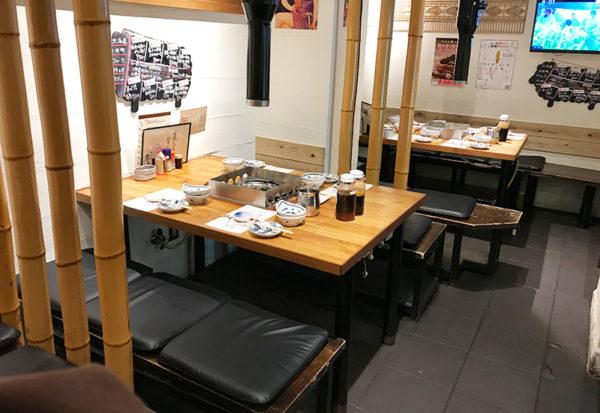 ラム肉専門店 らむ屋 岩本 テーブル席