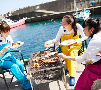 旅サラダ 週末行ってみっか 熱海 海鮮バーベキュー