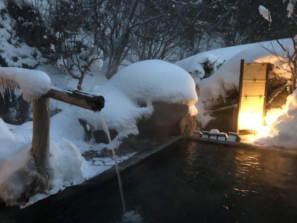 日光 奥鬼怒温泉 八丁の湯 雪見の湯 混浴 露天風呂