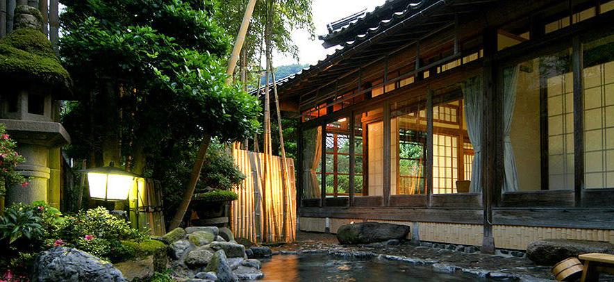 三朝温泉 旬彩の宿 いわゆ 離れ 竹ノ宿 庭園露天風呂