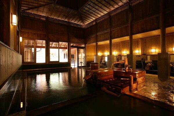野沢温泉 旅館さかや 内湯 大浴場