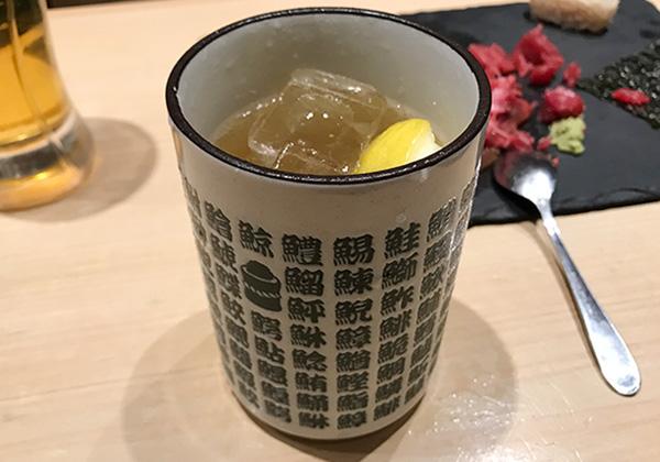 西宮北口 杉玉 寿司 居酒屋 黒レモンサワー
