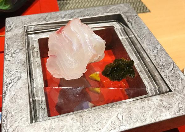 有馬温泉 有馬きらり 新和食 フュージョン お刺身 天然鯛 生海苔土佐煮
