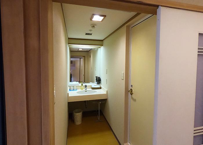 有馬温泉 有馬きらり 客室 スタンダードルーム 洗面所 トイレ バス