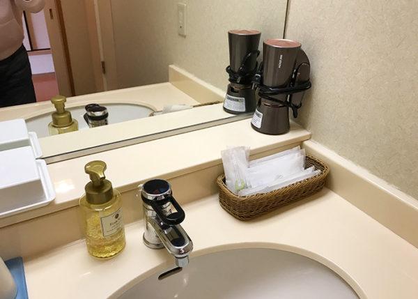 有馬温泉 有馬きらり 客室 スタンダードルーム 洗面所 洗面台