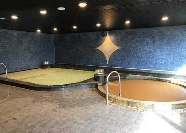 有馬温泉 ホテル 旅館 きらり 大浴場 男湯 浴槽 金泉 銀泉