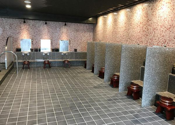 有馬温泉 ホテル 旅館 きらり 大浴場 女湯 洗い場