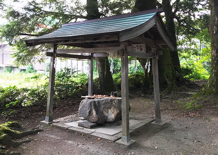 鳥取 三朝温泉 三朝神社 手水舎
