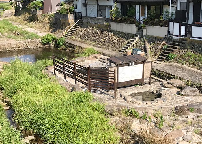 鳥取 三朝温泉 河原風呂 足湯