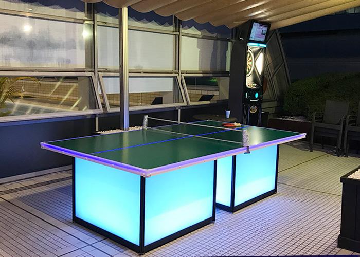 夜遊びオヤジのビアガーデン 卓球 ダーツ ホテルニューオータニ大阪