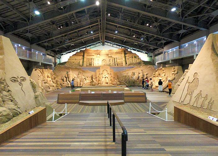 鳥取砂丘 砂の美術館 砂像 南アジア