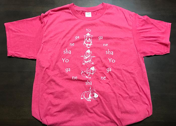 鳥取砂丘 砂の美術館 お土産 雑貨 ガネーシャ Tシャツ ヨガネーシャ