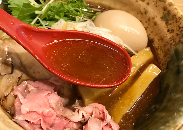 ジョーテラスオオサカ 大阪城下町 ラーメン小路 焼きあご塩らー麺 たかはし スープ