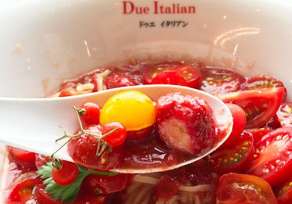 冷製トマトコレクション トマト イチゴ 黄金の塩らぁ麺 ドゥエイタリアン 大阪店