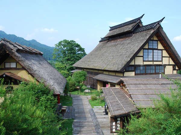 かやぶきの郷 薬師温泉 旅籠 かやぶき屋根