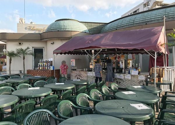 宝塚ホテル ビアガーデン 屋外席 ドリンクコーナー