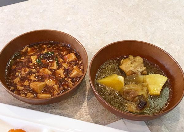 宝塚ホテル ビアガーデン 麻婆豆腐 鶏のカレー煮