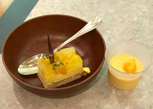宝塚ホテル ビアガーデン デザート パイン&マンゴームース マンゴープリン