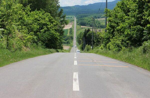 北海道 上富良野 ジェットコースターの路