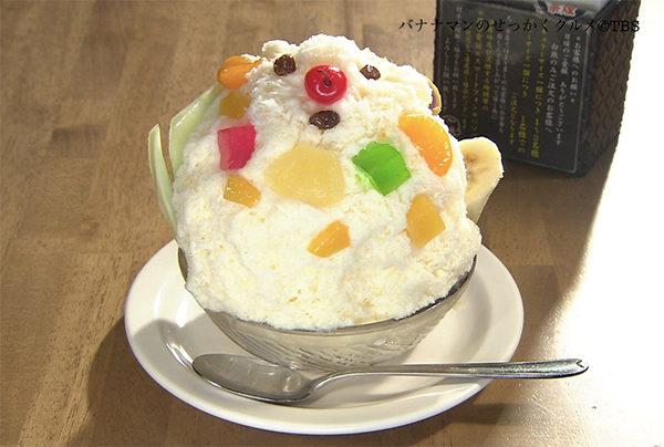 バナナマンせっかくグルメ グルメ 鹿児島 かき氷 白熊
