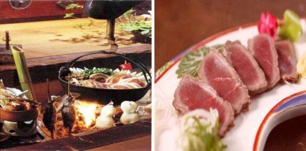 群馬 秘境 旅館 一軒宿 下仁田温泉 清流荘 夕食